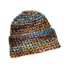 kolorowa czapka na szydełku